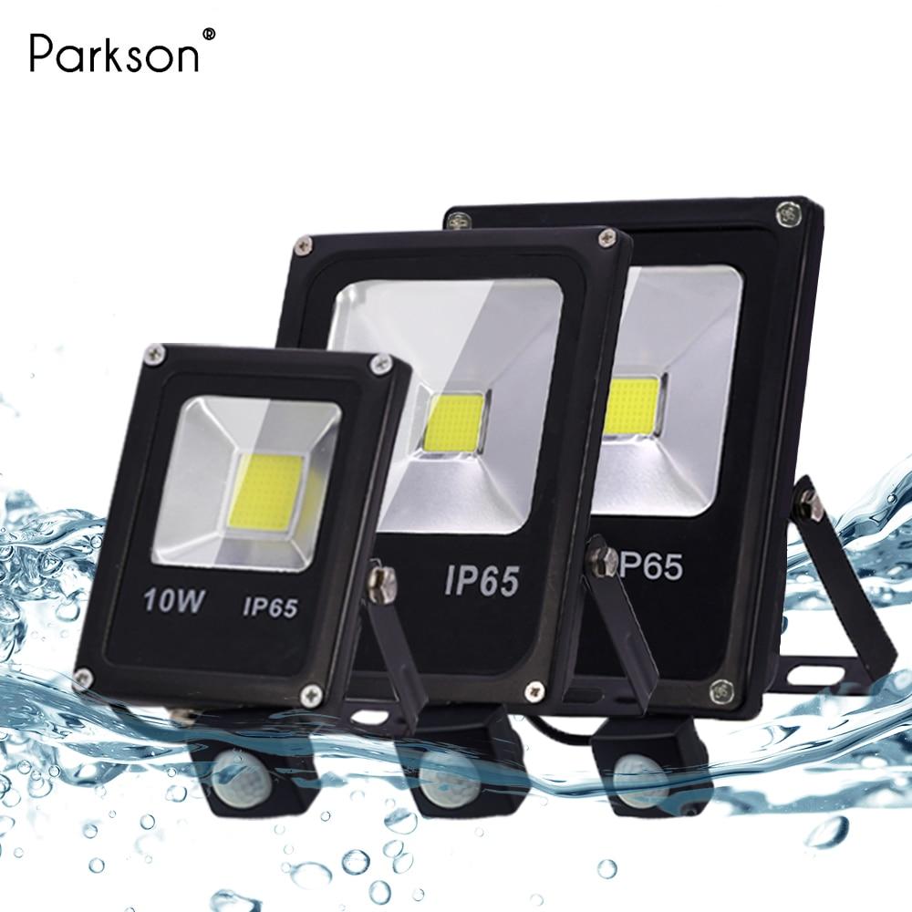 Led Flood Light 10W 30W 50W AC 220V PIR Motion Sensor Garden Wall Lamp IP65 Waterproof Led Floodlight Street Outdoor Spotlight