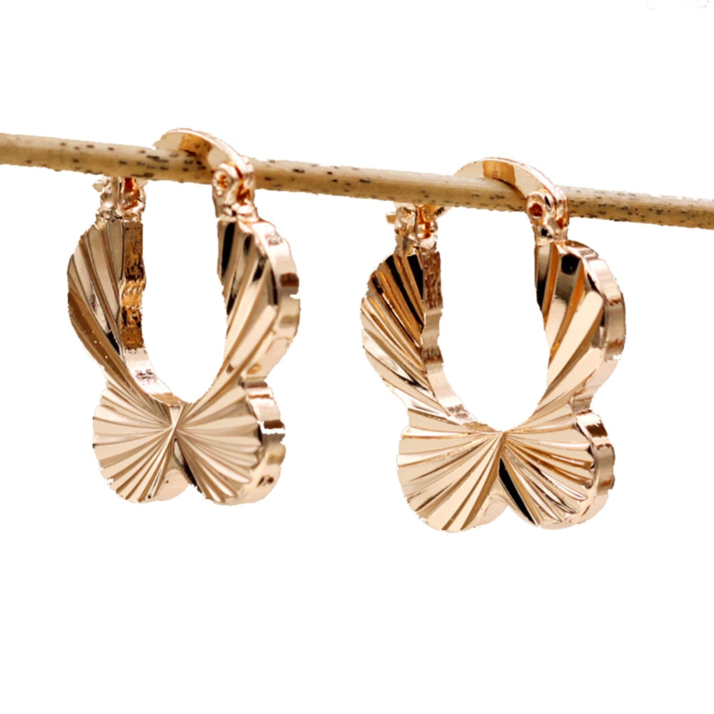 Moda na moda brincos boêmio para brinco feminino ouro cheio flor brinco de ouro círculo hoop brincos jóias de casamento