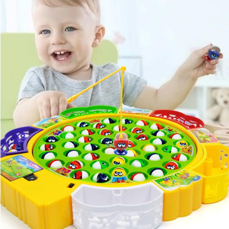 Детская игрушка для мальчиков и девочек, электрическая вращающаяся головоломка для рыбалки, Интерактивная игрушка для родителей и детей, и...
