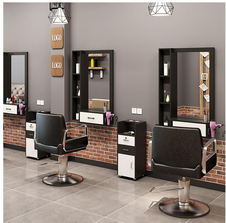 Парикмахерское зеркало в магазине, Парикмахерское зеркало, стол, интегрированное настенное зеркало, Парикмахерское зеркало