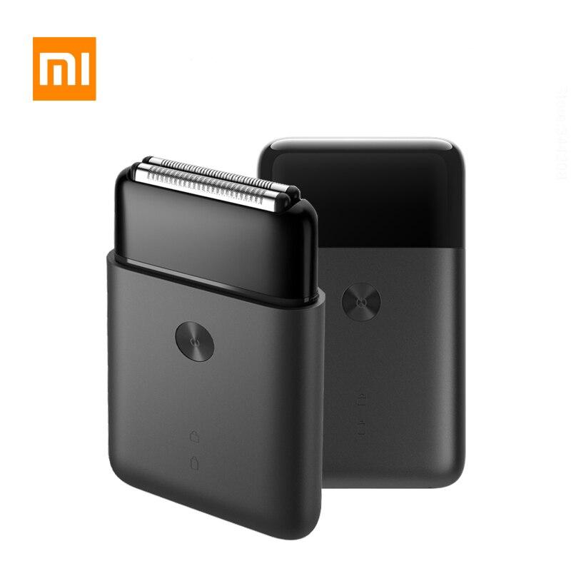 Xiaomi portátil barbeador elétrico men shaver mini ipx7 à prova dwaterproof água de carregamento usb pistão lâmina dupla aparador barba