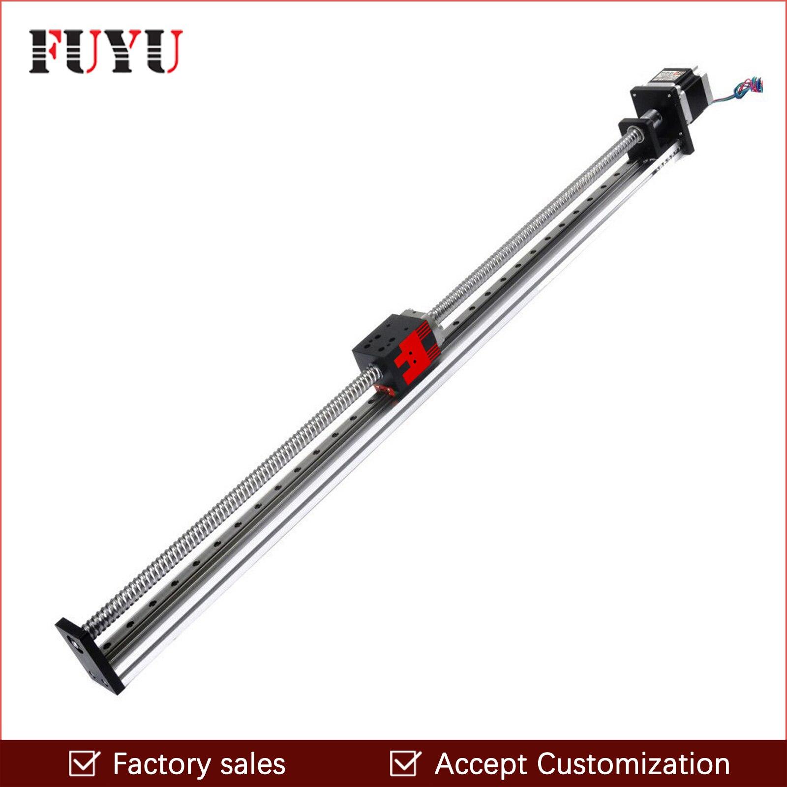 Gratis Verzending 600Mm Slag Lineaire Rail Motion Slide Gids Gemotoriseerde Bal Schroef Xy Slide Tafel Stappenmotor Actuator