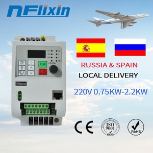 For Russian !220v 2.2KW VFD Solar Frequency Inverter DC Input to 3P 380V Output Motor Speed Control
