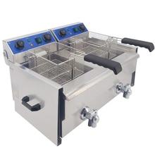 Frytkownica elektryczna ze stali nierdzewnej wielofunkcyjna maszyna do smażenia tłuszczu frytkownica Grill smażone ryby mięso z kurczaka chipsy ziemniaczane