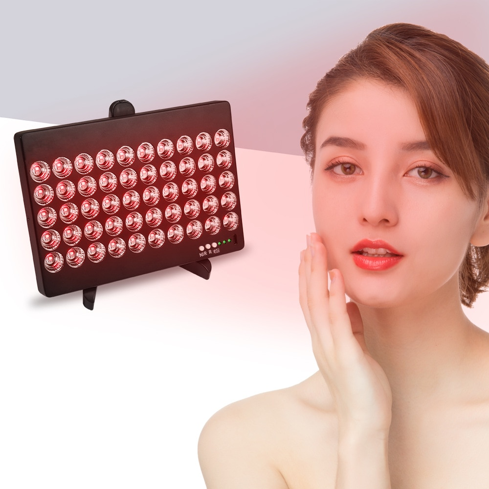Red Light Therapy Infrared Led 660/850nm Treatment Lamp FDA Face Skin Beauty At Home Lamp 50W USB Charging Portable Dual Chip enlarge