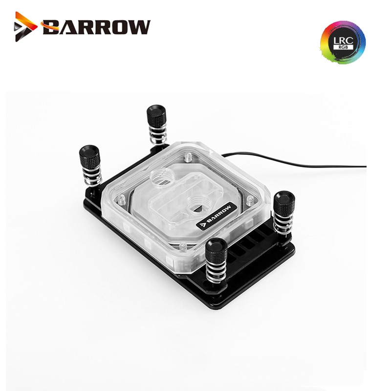Barrow  AMD AM3 AM4  CPU water block cooling  RGB processor cooler 2.0 5v light black white  LTYK3A-04 V2
