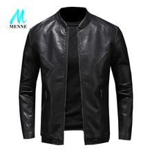 MENNE hommes veste en cuir hommes manteau moto/loisirs veste hommes veste en cuir PU col de Baseball hommes veste