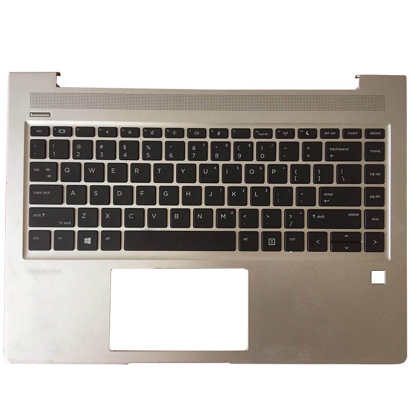 NEW Laptop Palmrest Upper Case US Keyboard For HP Probook 440 445 G6 Sliver L44589-001
