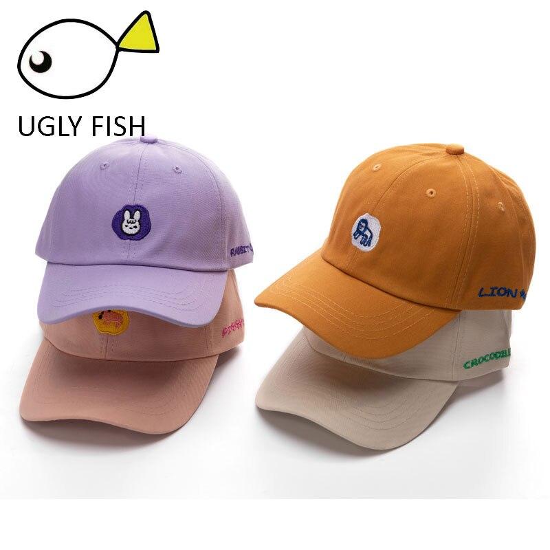 baseball cap men women Adjustable Black Cotton Men's Baseball Caps dad hat Women's Baseball Caps animal embroidery