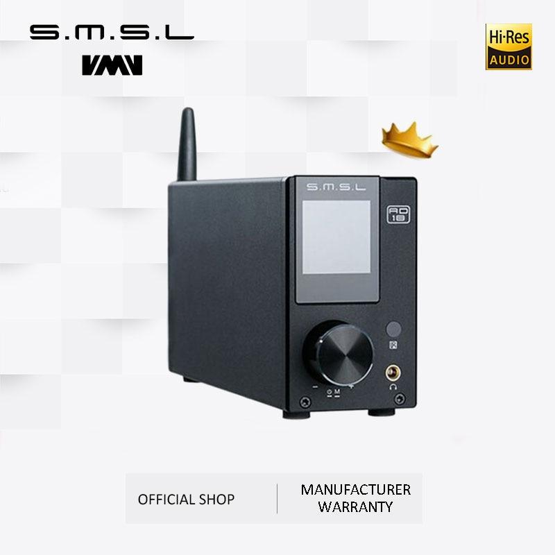 SMSL AD18 Hi-Fi аудио стерео усилитель с Bluetooth 4,2 поддерживает Apt-X,USB DSP полный цифровой усилитель мощности 2,1 для динамика