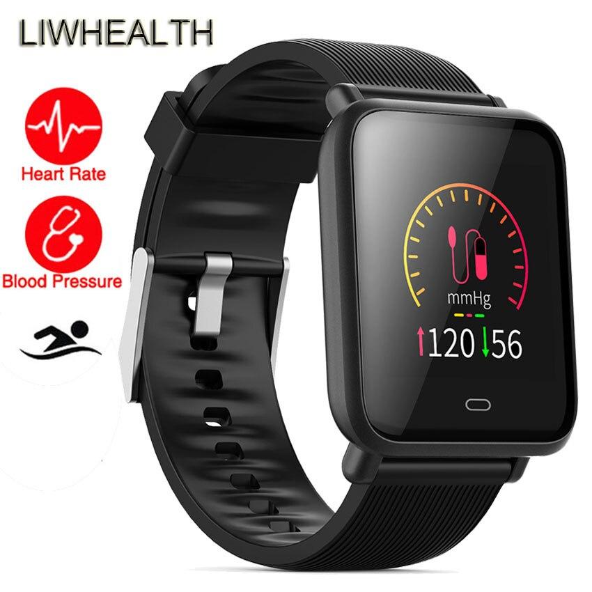 Slim Color Banda inteligente reloj nadar prueba HR/BP rastreador de Fitness pulsera para IOS/Xiaomi/Honor del mi banda 4/5 Smartband no Xio mi
