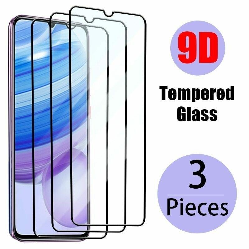 Защитное стекло, закаленное стекло для Xiaomi Redmi 9/9SE/Note 8/10/8A, 3 шт.