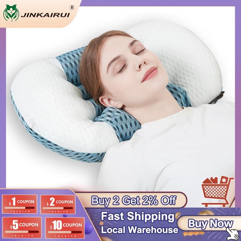 JinKaiRui الكهربائية دلك وسادة تدليك الفراش مع حزام العنق المطاط الحرارة تخفيف التعب أثناء النوم الرعاية الصحية