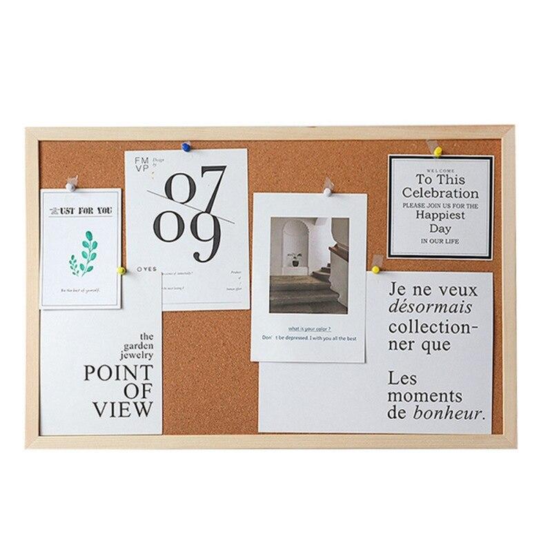 Dekorative Bord Mit Rahmen Kork Bord Nachricht Bord Haushalt Foto Wand Hintergrund Bord