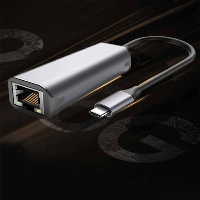 USB نوع C محول إيثرنت بطاقة الشبكة USB Type-C إلى RJ45 2500Mbps Lan كابل الإنترنت لماك بوك الكمبيوتر ويندوز XP 7 8 10