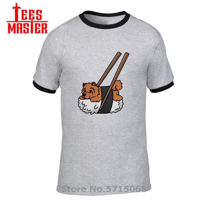 Chow, camiseta para hombre, camiseta japonesa Kawaii Nigiri Sushi, divertida camiseta para hombre, camiseta de Animal Harajuku, camisetas de calidad de manga corta