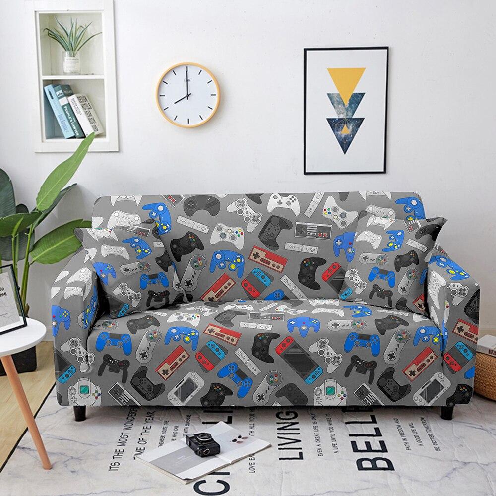 Эластичный чехол для дивана для видеоигр, эластичный чехол для дивана, полноразмерный чехол для геймпада для гостиной, чехол для дивана, чех... чехол