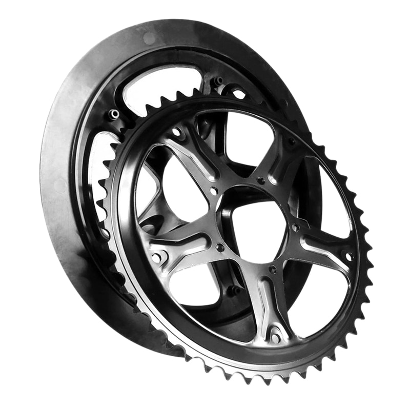 Bicicleta Eléctrica Bbs01 Bbs02 para reemplazo de rueda de cadena Bafang protector de cadena de bicicleta para Bbs01B Bbs02B 44T 46T 48T 52T dientes con Sc