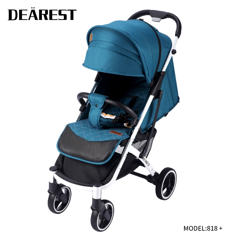 Dearest818+baby stroller Light shipping free ultra light folding can sit and lie high landscape suitable 4 seasons high demand f