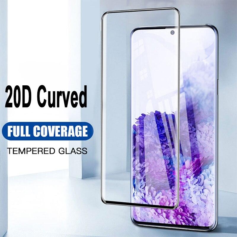 Protector de pantalla de cobertura completa para Samsung S20 Ultra Nota 10 8 9 cristal Protector párr Samsung S21 S10 S8 S