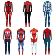 3D femmes Spiderman Spider Gwen Costumes Gwendolyn Maxine Stacy Zentai body costume Spidergirl Cosplay Halloween combinaisons