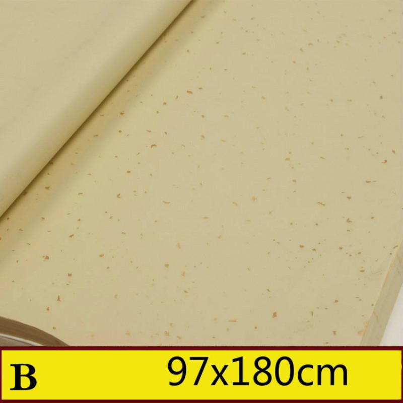 Rijstpapier Bamboo Paper Half Ripe Xuan Paper Golen Foil Painting Calligraphy Rice Paper Carta Di Riso Shoji Paper 50sheets