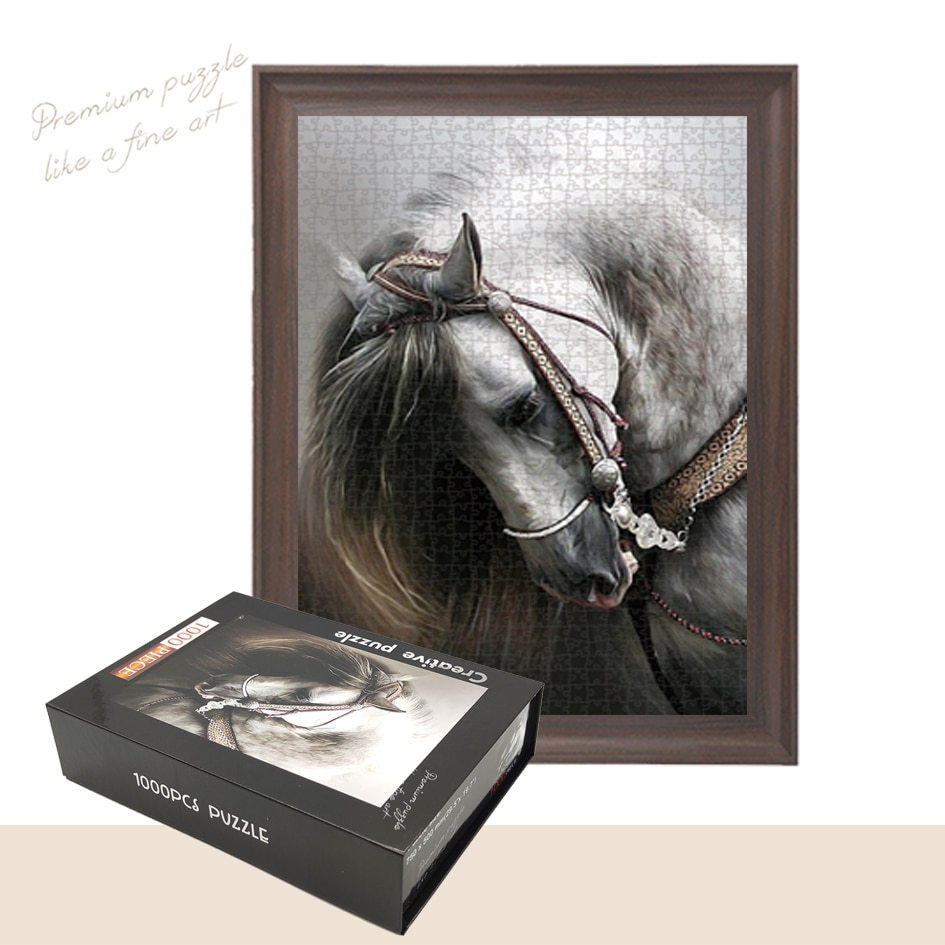Пазлы с испанской лошадью для взрослых, пазлы с пейзажем, подарочные настенные картины «сделай сам», 1000 шт.
