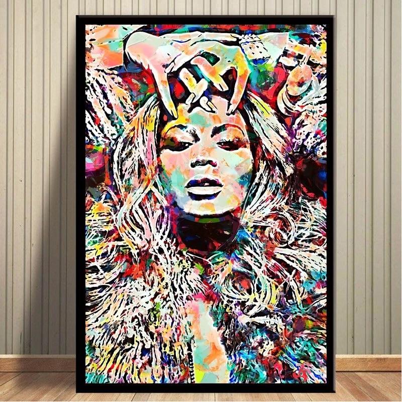 Beyonce Aquarell Kunst Pop Star Poster Und Drucke Leinwand Malerei Bilder An Der Wand Abstrakte Dekorative Wohnkultur Plakat