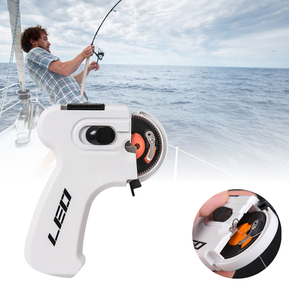 Electric Automatic Hook Device Multifunctional Hooking Device Fishing Accessories Fishing Line Winder Portable Automatic Hook