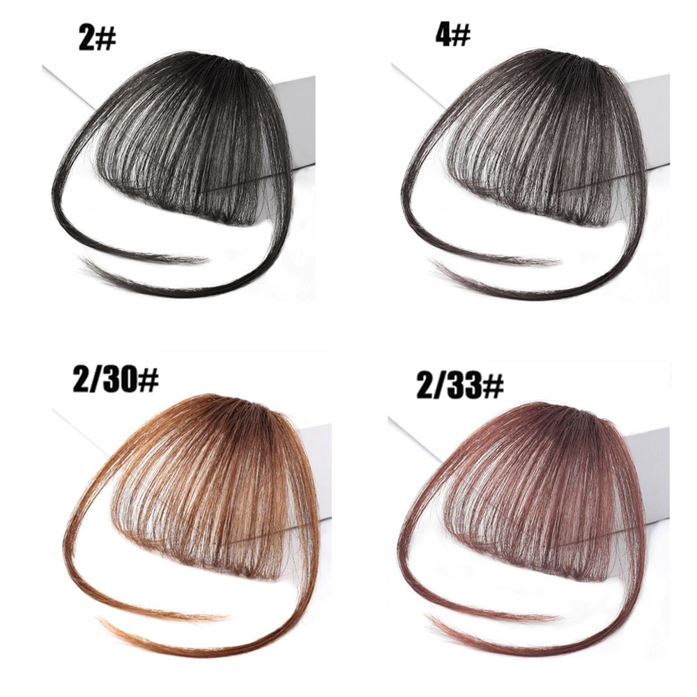 8 Colors Air Bangs Clip In Hair Bangs Hairpiece Synthetic Fake Bangs Hair Piece Clip In Hair Extensions Accessories