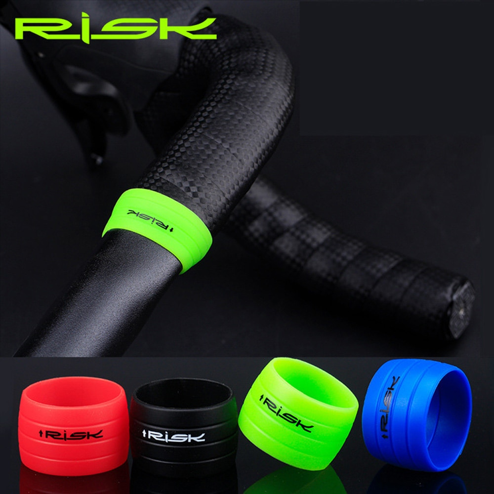 RISK Road Fixie велосипед изгиб руля лента фиксирующее кольцо Противоскользящий силиконовый рукав дополнительный цвет стабильное кольцо