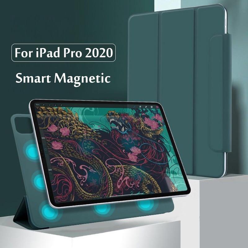 Для iPad Pro 12,9 4-го поколения 2020 чехол Безопасный Магнитный умный чехол для iPad Pro 11 2020 2th Gen чехол с держателем карандаша
