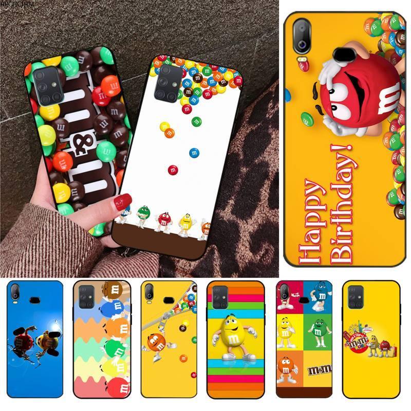Bonita carcasa para teléfono móvil con foto personalizada de M & M para Samsung A10, A20, A30, A40, A50, A70, A80, A71, A51, A6, A8, 2018