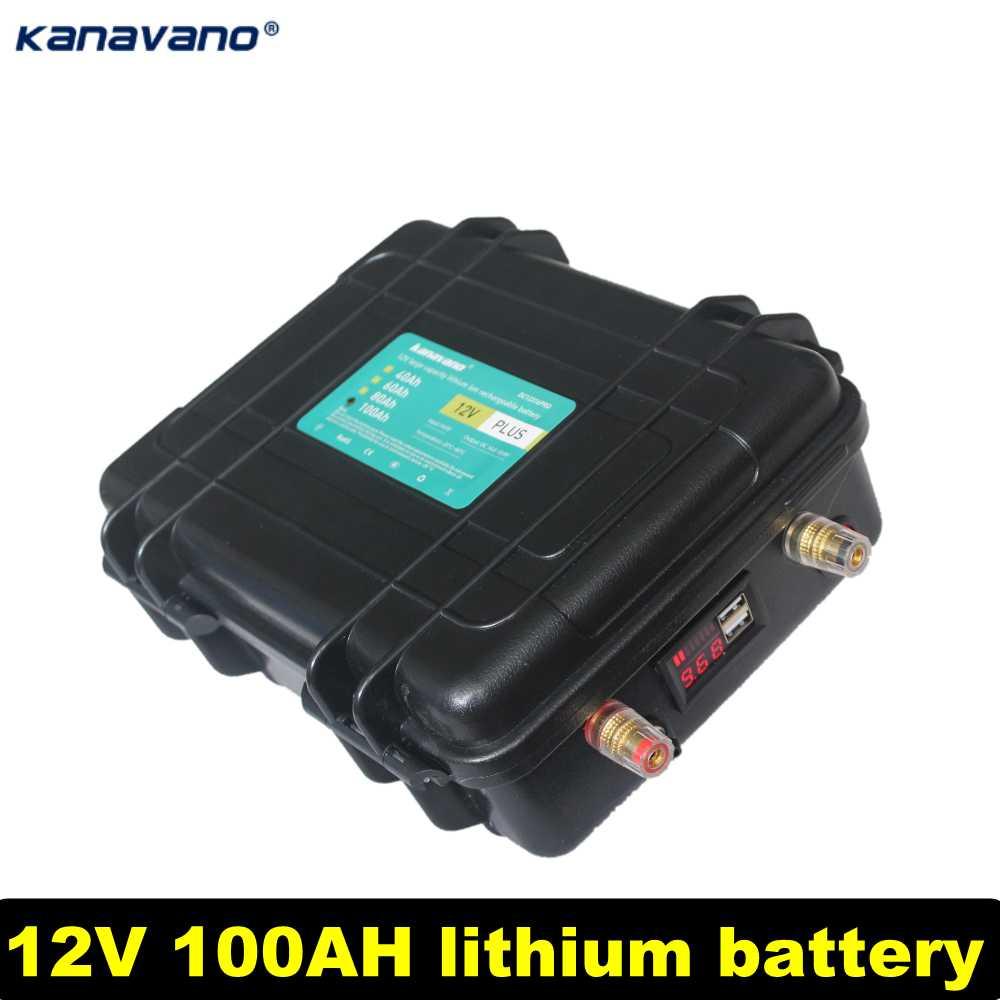 12v100ah bloco de bateria de lítio bateria recarregável de alta capacidade os cargos de ligação são usados para navios e carros de partida enviar carregador