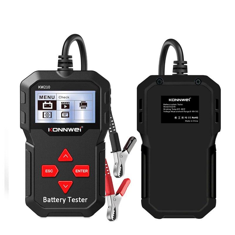 Умный тестер автомобильных аккумуляторов KONNWE KW210, 12 В, анализатор автомобильных аккумуляторов от 100 до 2000CCA, тестер автомобильных аккумулято...