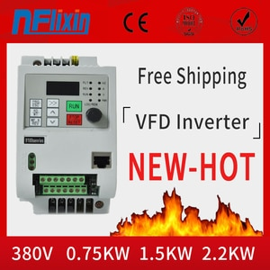 CNC 1.5KW 2.2kw 380V Variable Frequency Drive Inverter VFD for Spindle Motor Speed Control
