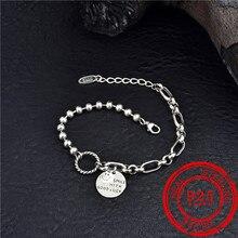 Coréen pop style 100% 925 bracelet en argent sterling dames smiley visage pendentif bracelet cadeau danniversaire 925 argent bijoux de mode