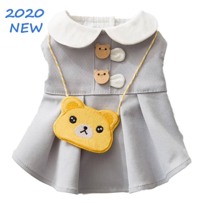 Perro gato bolsa de ropa conjunto chaleco para perros perro falda verano perro ropa para perros pequeños perros cachorro de Yorkshire Terrier gato ropa para mascotas