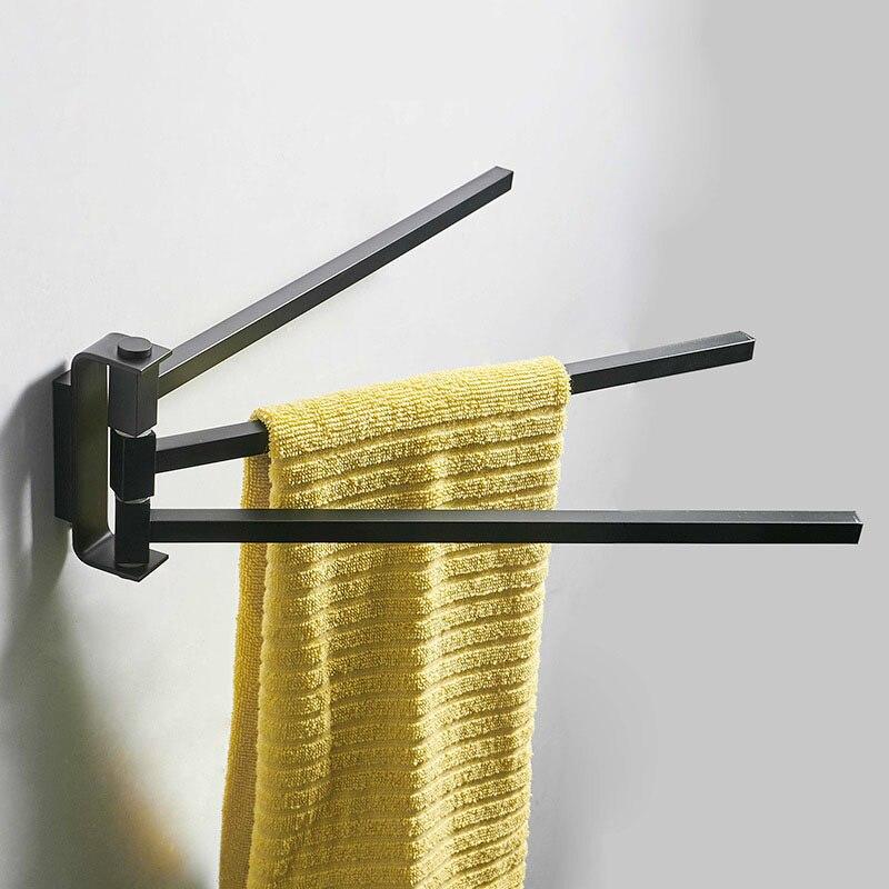 Brass Bathroom Towel Holder Bar Rail Wall Chrome Mounted Swivel Swing Arm Bathroom Toilet Towel Rack Bathroom Accessories