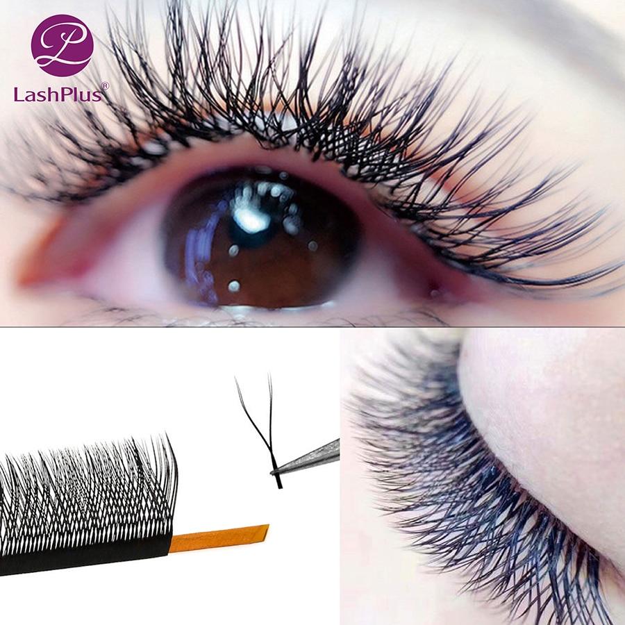 LASHPLUS YY Mesh Lash Y Shape Eyelashes Extension Premium Mink Soft Light Natural 4D Makeup Cross Bloom False Eyelash