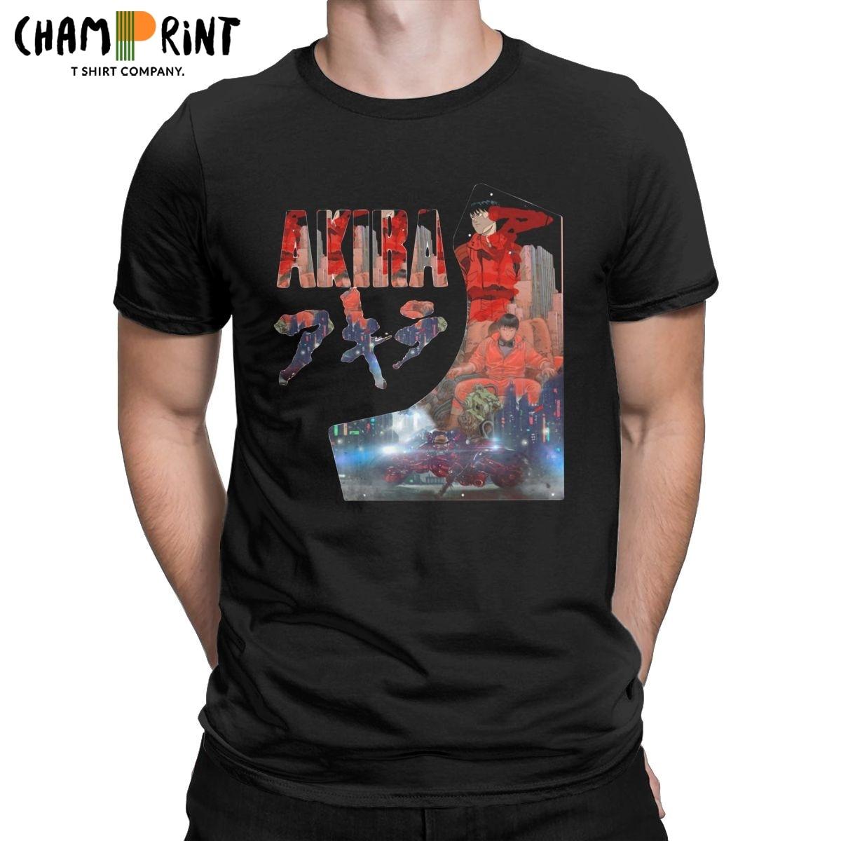 Camiseta de Anime de la película Akira para hombre, camisa de Kaneda...