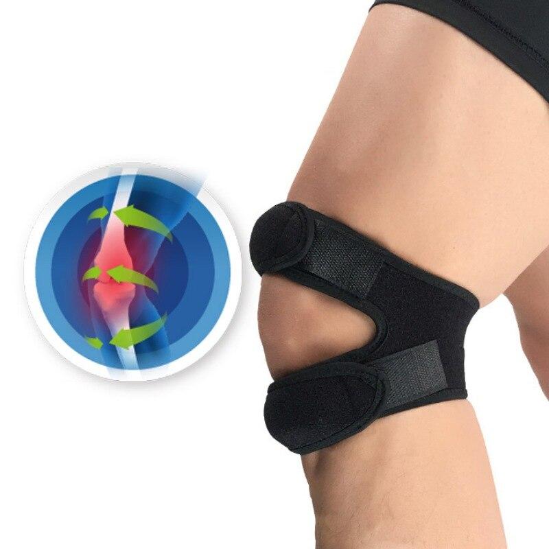 Nuevo 1 Uds. Rodillera presurizada manga vendaje de soporte almohadilla elástica brackets rodilla agujero rodillera seguridad baloncesto tenis ciclismo