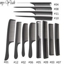 12 Style antistatique peignes de coiffure emmêlés brosses à cheveux droites filles queue de cheval peigne Pro Salon de coiffure outil de coiffure