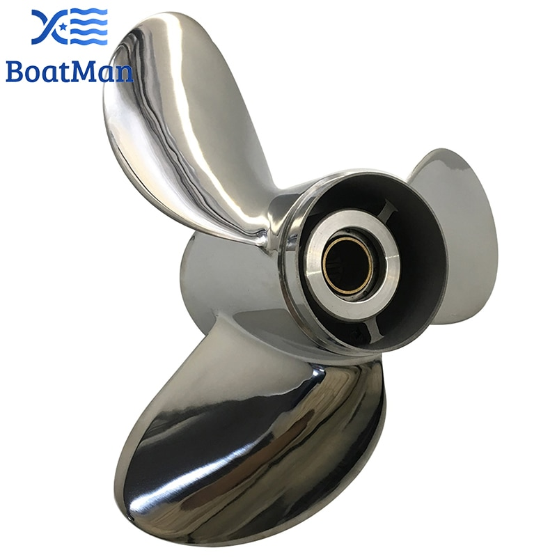 Outboard Propeller 11 3/4x12 For Suzuki Engine 35-65 HP Stainless Steel 13 Tooth splines Outlet Boat Parts 990C0-00501-12P enlarge