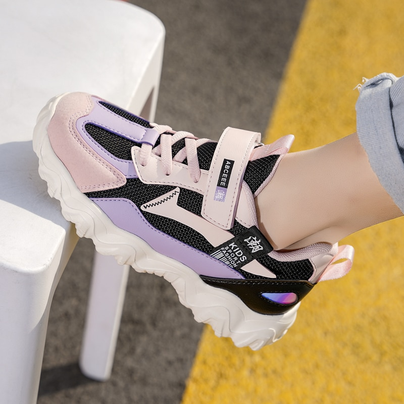 Kids Running Sneakers Breathable Lightweight Children Shoes Non-slip Casual Boys Shoes Walking Sport Fashion Girls Sneakers 2020 spring leisure women sneakers breathable outdoor walking non slip jogging lightweight shoes fashion female sneakers