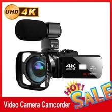 Real 4k WiFi Video Camcorder 48MP Recorder Streaming  Vlogging For Youbute  Night Vision Wide-angle