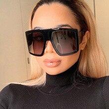 Fashion Brand Design New Sunglasses Women Flat Top Square Luxury Sun Glasses Vintage UV400 Sunglass