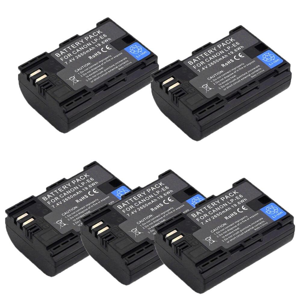 Batería de celda japonesa Sanyo LP-E6 LPE6 LP E6 E6N, paquete de...