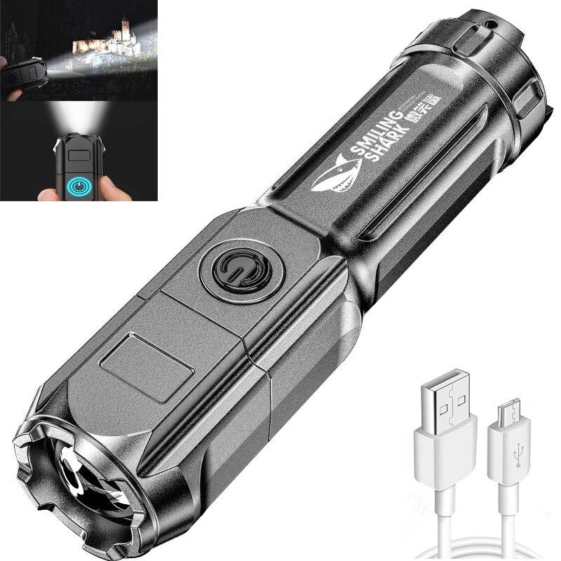 Портативсветильник вспышка, сисветильник, высокая мощность, перезаряжаемый зум, светильник свет, тактическая вспысветильник, уличный свет, светодиодсветильник вспышка