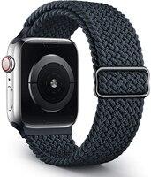 Ремешок плетеный нейлоновый для Apple watch band 44 мм 40 мм 38 мм 42 мм, эластичный тканевый браслет для iWatch 3 4 5 se 6 series